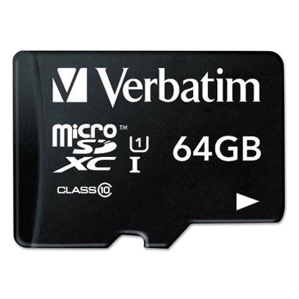 Verbatim Premium 64 GB microSDXC Memory Card with Adapter
