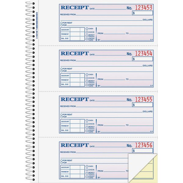 Adams Money/Rent 2-Part Receipt Book