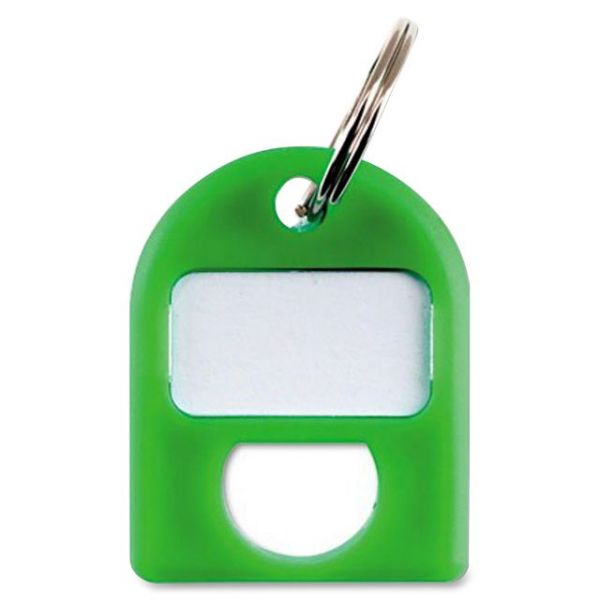 CARL Replacement Security Cabinet Key Tags, Green, 8/Pack
