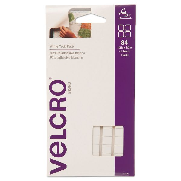 Velcro Sticky Fix Tak, Removable, 84 Squares/Pack