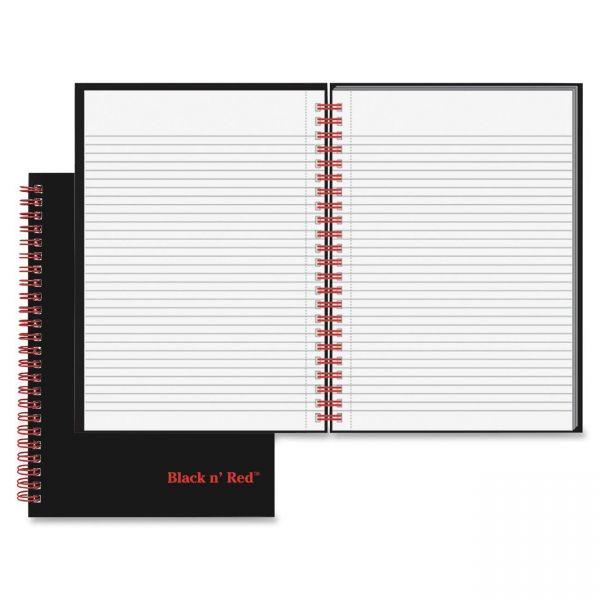 Black n' Red Wirebound Ruled Notebook