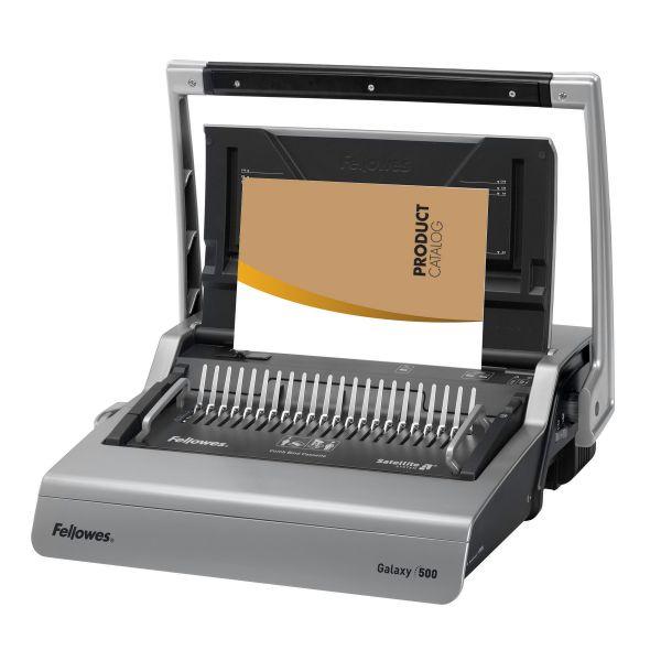Fellowes Galaxy 500 Comb Manual Binding Machine w/ Starter Kit