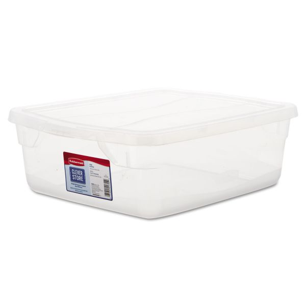 Rubbermaid Clever Store Snap-Lid Storage Container