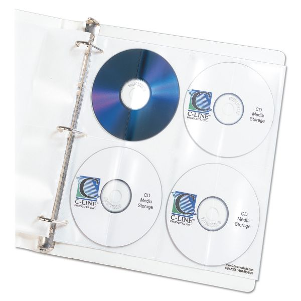 C-Line Deluxe CD Ring Binder Storage