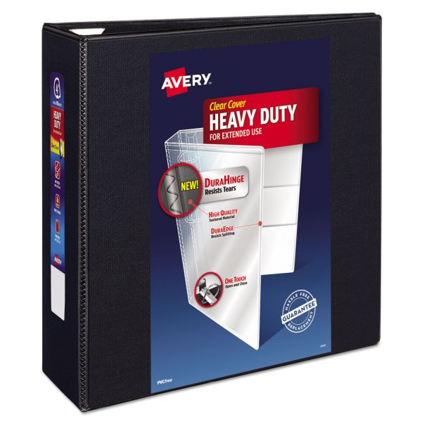 "Avery Heavy-Duty One Touch 4"" 3-Ring View Binder"