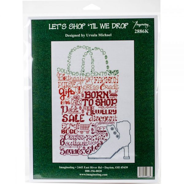 Let's Shop Counted Cross Stitch Kit