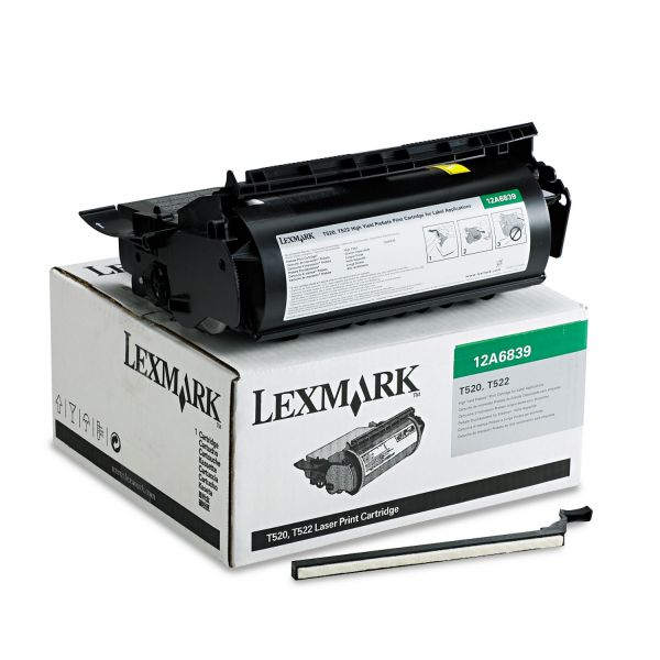 Lexmark 12A6839 Black High Yield Return Program Toner Cartridge