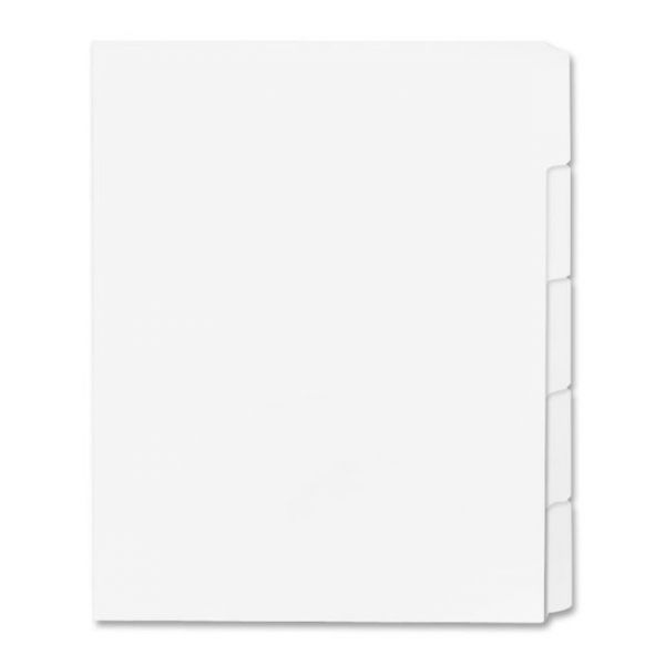 Sparco Single Reverse Collated 5-Tab Index Dividers