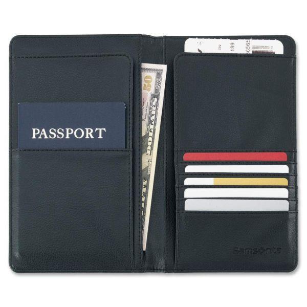 Samsonite Carrying Case (Wallet) for Travel Essential - Black