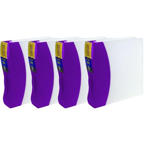 """Storex 2"""" DuraTech Binder, Purple (Case of 4)"""
