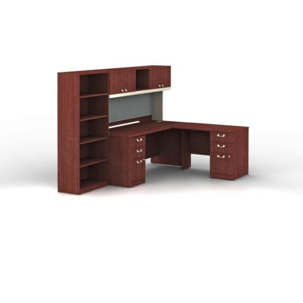 bbf Quantum Professional Configuration - Harvest Cherry finish by Bush Furniture