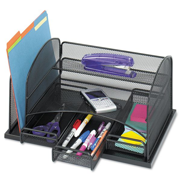 Safco Three Drawer Organizer, Steel, 16 x 11 1/2 x 8 1/4, Black
