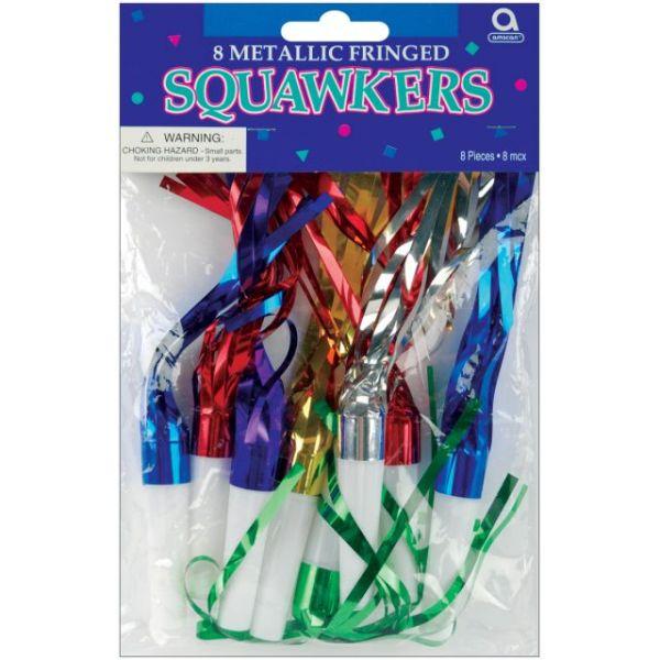 Metallic Fringe Squawkers 8/Pkg