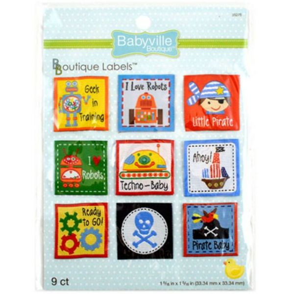 Babyville Boutique Labels 9/Pkg