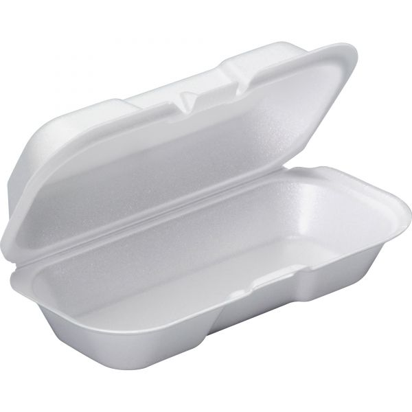 Genpak Takeout Clamshell Hot Dog Containers