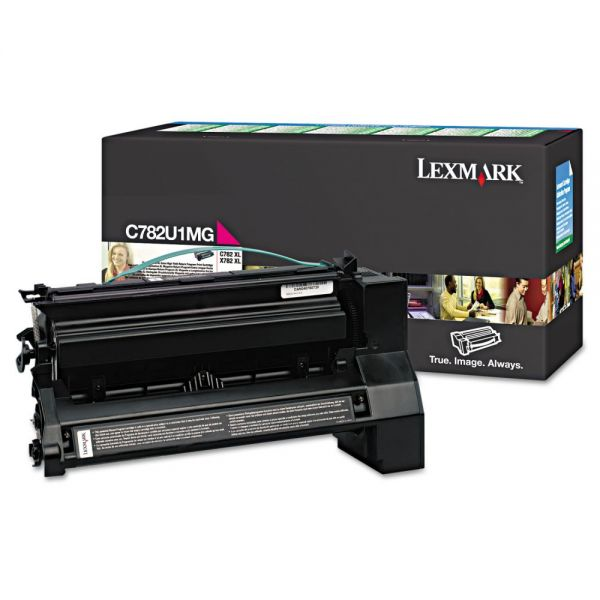 Lexmark C782U1MG Magenta Extra High Yield Return Program Toner Cartridge