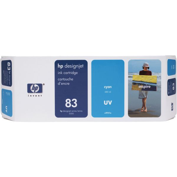 HP 83 UV Cyan Ink Cartridge (C4941A)