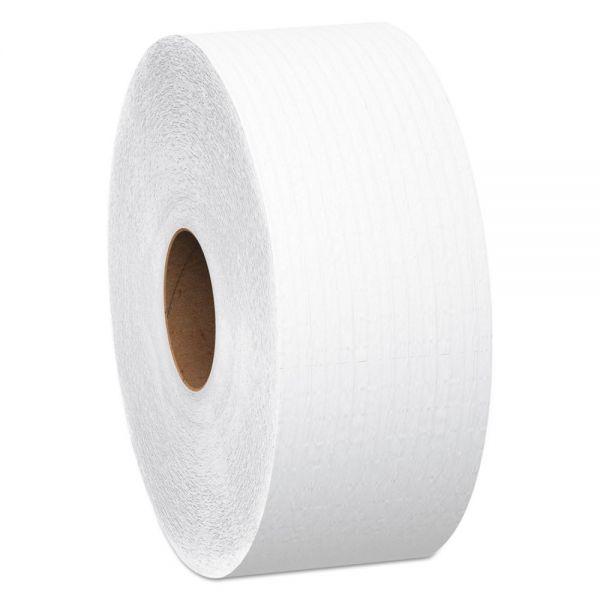 "Scott JRT Jumbo Roll Bathroom Tissue, 1-Ply, 12"" dia, 4000ft, 6/Carton"