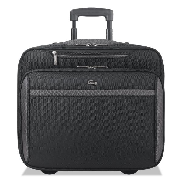 """Solo Pro Rolling Overnighter Case, 16"""", 16 3/4 x 7 x 15 3/4, Black"""