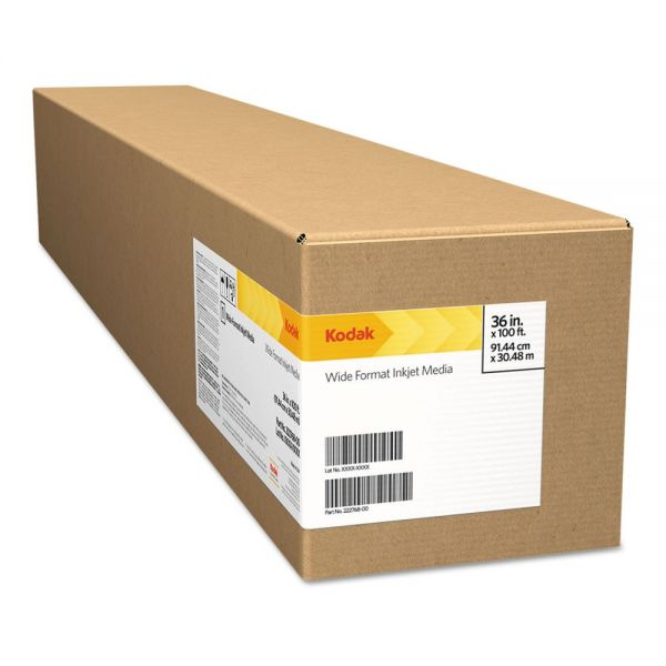 "Kodak Premium Photo Paper, 10mil, Solvent, Glossy, 61"" x 100 ft"