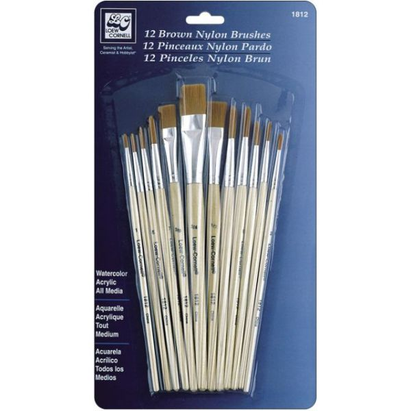Brown Nylon Brush Set
