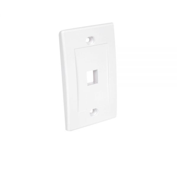 StarTech.com Single Outlet RJ45 Universal Wall Plate - White
