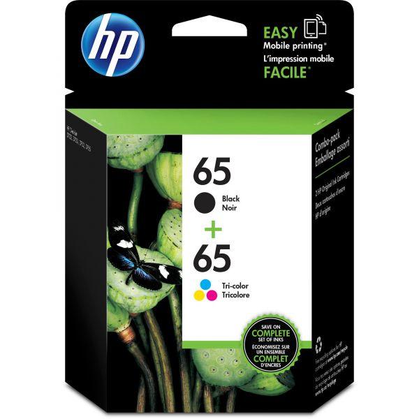 HP 65 Black & Tri-Color Ink Cartridges