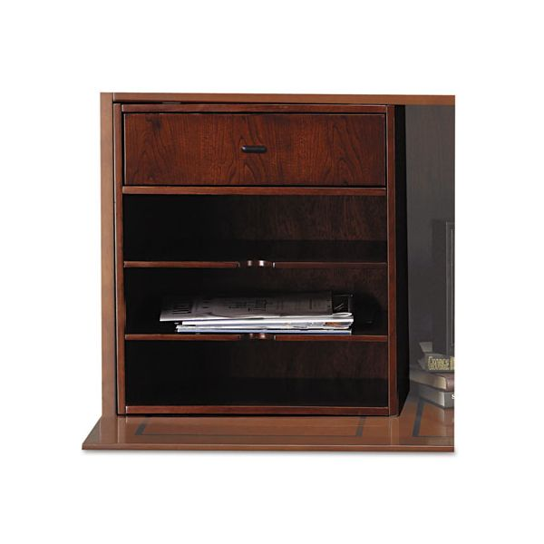 Tiffany Industries Sorrento Horizontal Hutch Organizer, 17-1/2w x 12-1/2d x 19-3/4h, Bourbon Cherry