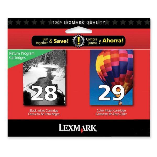 Lexmark #28 Black/#29 Combo Pack Return Program Ink Cartridges (18C1590)