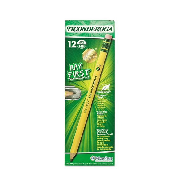 Ticonderoga My First #2 Wood Pencils