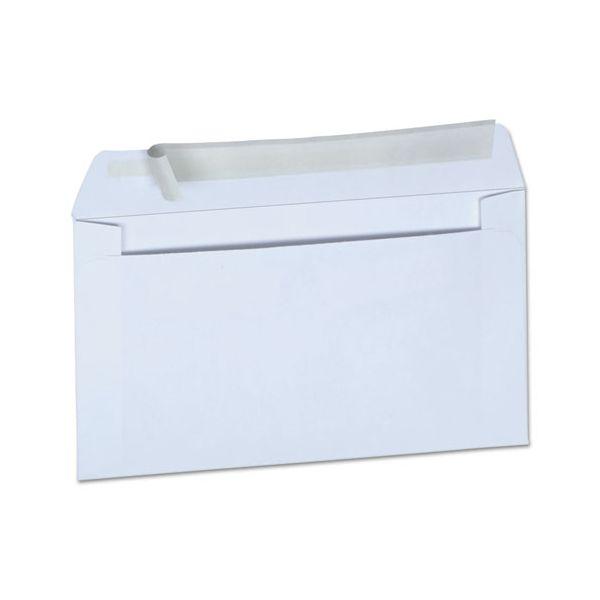 Universal Peel Seal Strip Business Envelope, #6 3/4, 3 5/8 x 6 1/2, White, 100/Box