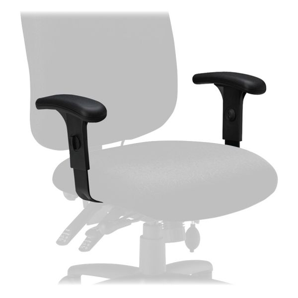 Tiffany Industries Height-Adjustable T-Bar Arms for Mayline 24-Hour Task Chairs, Black