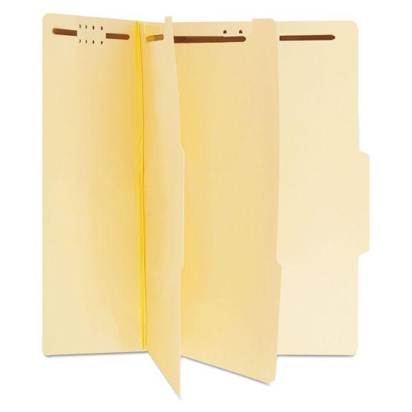 Universal Manila Classification Folders, Letter, Six-Section, 15/Box