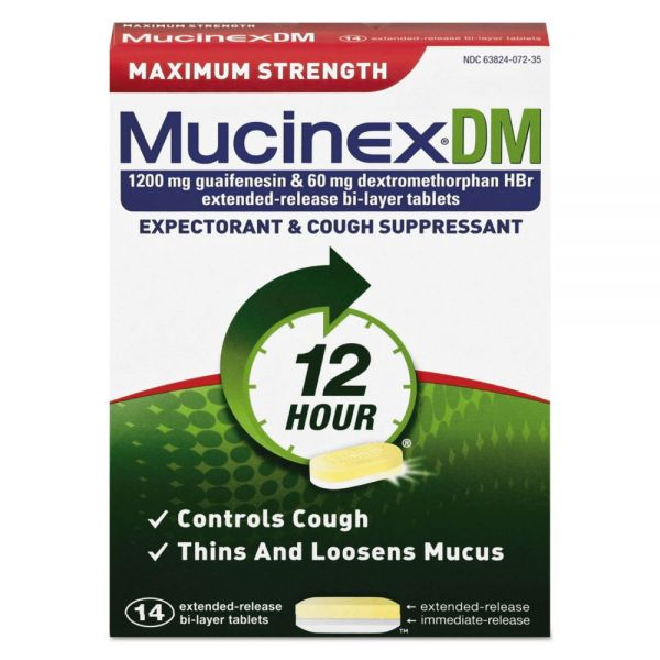 Mucinex DM Max Strength Expectorant & Cough Suppressant Tablets
