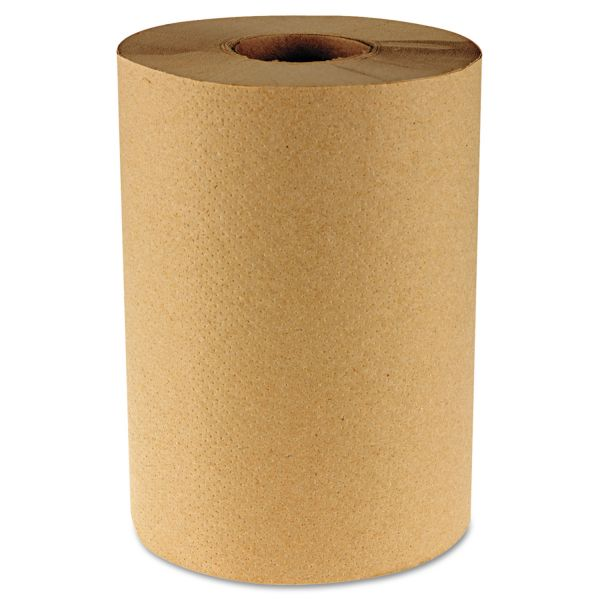 "Boardwalk Hardwound Paper Towels, 8"" x 350 ft, 1-Ply, Natural, 12 Rolls/Carton"