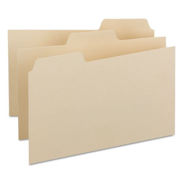 Smead Self-Tab Card Guides, Blank, 1/3 Tab, Manila, 5 x 8, 100 per Box