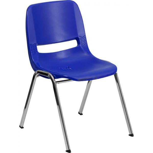 Flash Furniture HERCULES Series Ergonomic Plastic Stacking Chair