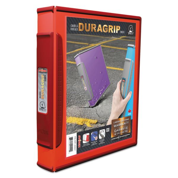 """Storex DuraGrip 1"""" 3-Ring View Binder"""