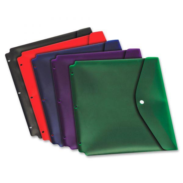 Cardinal Dual-Pocket Snap Binder Pockets