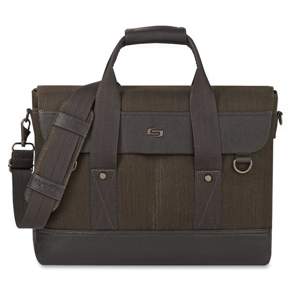 "Solo Executive Carrying Case (Briefcase) for 15.6"" Notebook - Black, Gray"