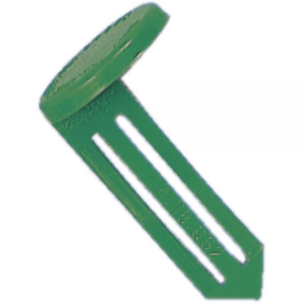 STEELMASTER by MMF Industries Nylon Vault Key-Hole Signals, Nylon, Green, 25/Box