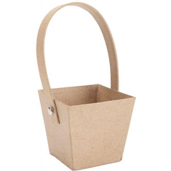 Paper-Mache Hand Basket