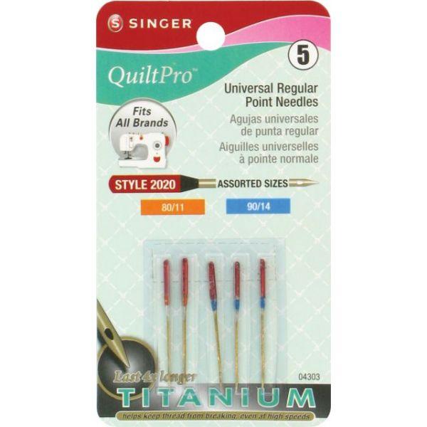 QuiltPro Titanium Universal Regular Point Machine Needles