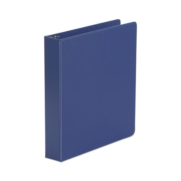 "Universal Economy Non-View 3-Ring Binder, 1 1/2"" Capacity, Round Ring, Royal Blue"