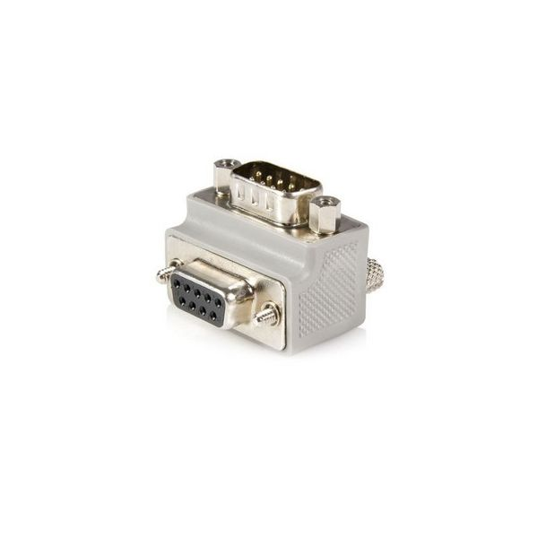 StarTech.com Right Angle DB9 to DB9 Serial Cable Adapter Type 1 - M/F