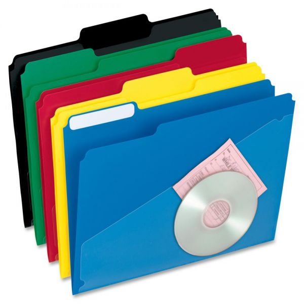 Pendaflex Hot Pocket Poly Colored File Folders