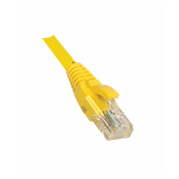 Weltron Cat5E Yellow Patch Cable w/ Boot