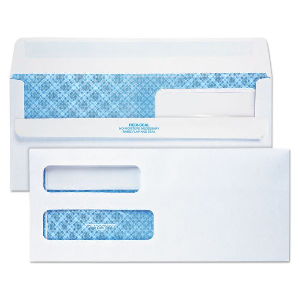 Quality Park Redi-Seal Double Window Envelopes