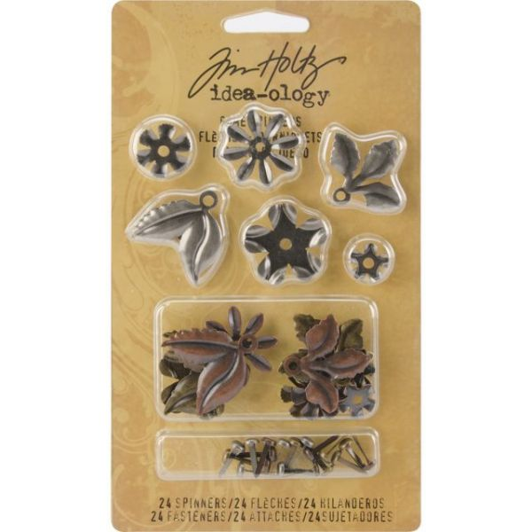 "Idea-Ology Metal Foliage W/Fasteners .375"" To 1"" 18/Pkg"
