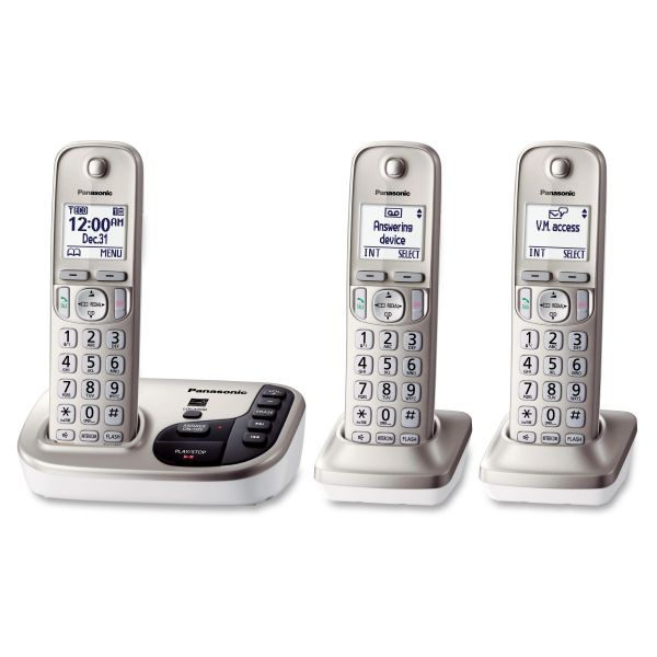 Panasonic KX-TGD223N DECT 6.0 1.90 GHz Cordless Phone - Champagne Gold